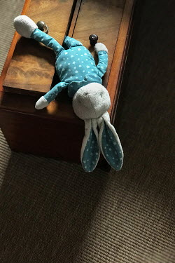 Maria Petkova CHILD'S STUFFED TOY ON WOODEN CHEST Miscellaneous Objects