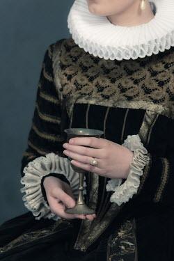 Ysbrand Cosijn HISTORICAL WOMAN HOLDING GOBLET Women