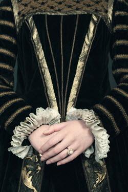 Ysbrand Cosijn HISTORICAL WOMAN WEARING PEARL RING Women