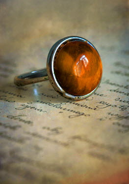 Jaroslaw Blaminsky SILVER RING WITH AMBER STONE Miscellaneous Objects