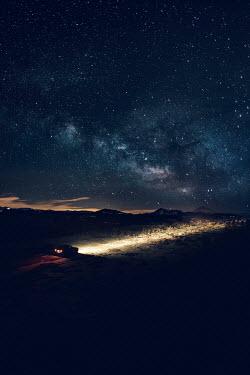 Magdalena Russocka CAR DRIVING ON COUNTRY ROAD AT NIGHT Cars
