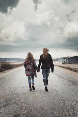 Robin Macmillan SISTERS WALKING ON COUNTRY ROAD Women