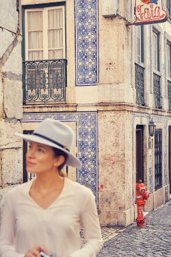 Chris Reeve WOMAN ON EUROPEAN STREET Women