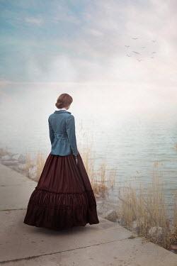 Ildiko Neer historical woman standing at lake Women