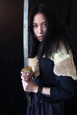 Nina Pak JAPANESE WOMAN HOLDING SAMURI SWORD Women