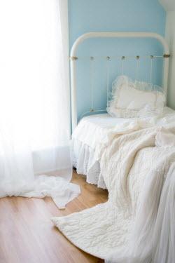 Eleanor Caputo WHITE BED WITH SUNLIT WINDOW Interiors/Rooms