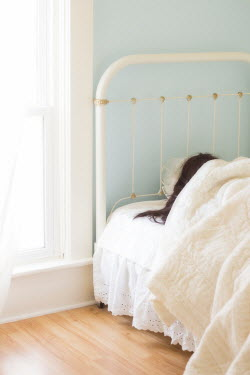 Eleanor Caputo WOMAN LYING IN WHITE BED Women