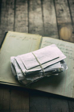 Jill Ferry BUNDLE OF LETTERS ON NOTEBOOK Miscellaneous Objects