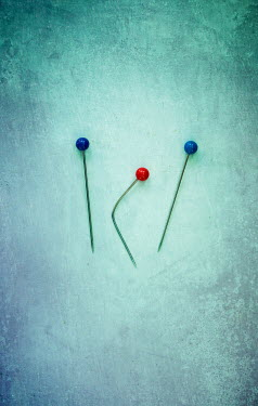 Jill Ferry TWO BLUE PINS WITH BENT RED PIN