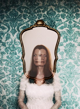 Manuela Deigert BLURRED MYSTERIOUS WOMAN BY MIRROR Women