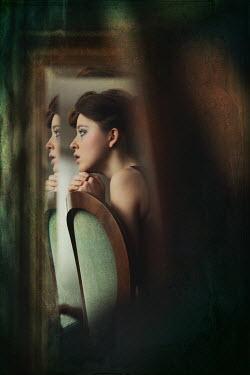 Beata Banach REFLECTION OF YOUNG WOMAN IN MIRROR Women