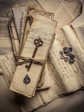 Jane Morley KEY WITH VINTAGE HANDWRITTEN LETTERS Miscellaneous Objects