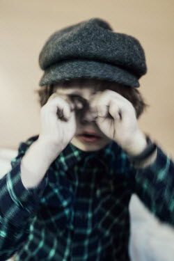 Lena Okuneva YOUNG BOY RUBBING EYES Children