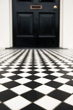 Kyle Stubbs CHEQUERED TILE PATH AND FRONT DOOR Houses