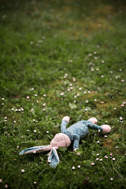Maria Petkova CHILD'S STUFFED TOY ON GRASS Miscellaneous Objects