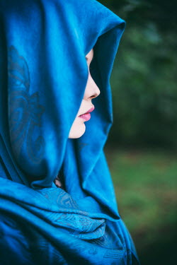 Ebru Sidar YOUNG WOMAN IN BLUE HEADSCARF Women