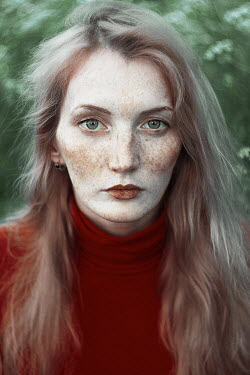 Alexandra Bochkareva MODERN YOUNG WOMAN WITH FRECKLES Women