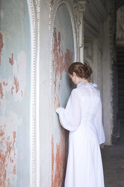 Dorota Gorecka YOUNG WOMAN IN ABANDONED BUILDING Women