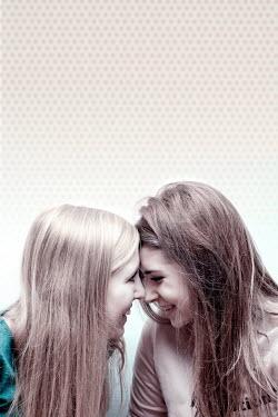 Jitka Saniova LAUGHING GIRLS TOUCHING HEADS Women