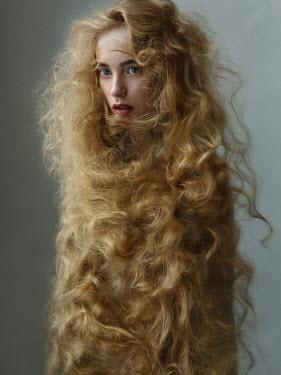 Alexey Kazantsev YOUNG WOMAN WITH LONG BLONDE HAIR Women