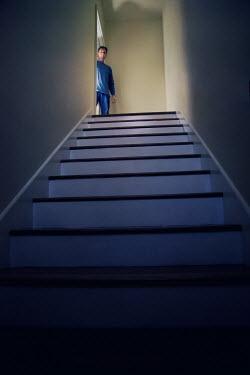 Susan Fox MAN AT TOP OF STAIRCASE Men