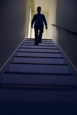 Susan Fox MAN WALKING DOWN STAIRS Men
