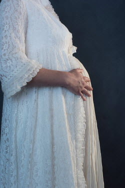 Ysbrand Cosijn HISTORICAL PREGNANT WOMAN IN NIGHTGOWN Women