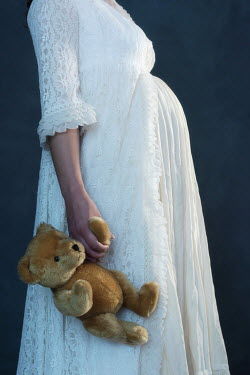 Ysbrand Cosijn YOUNG PREGNANT WOMAN WITH TEDDY BEAR Women