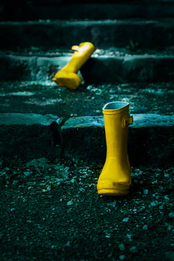 Stephen Mulcahey discarded bright yellow wellies Miscellaneous Objects