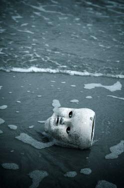 Carmen Spitznagel BROKEN CHINA DOLL HEAD IN SEA Miscellaneous Objects