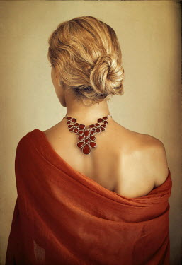 Irene Lamprakou BLONDE WOMAN WITH NECKLACE FROM BEHIND See All People