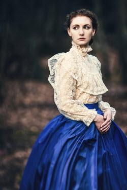 Magdalena Russocka edwardian woman in woods Women