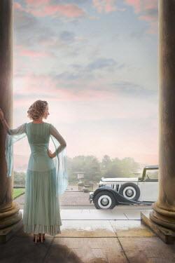 Lee Avison 1930s woman with a vintage car Women