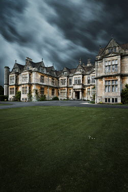 Michael Trevillion HISTORICAL MANOR HOUSE WITH STORMY SKY Houses