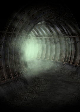 Victor Habbick EMPTY METAL TUNNEL WITH MIST Miscellaneous Buildings