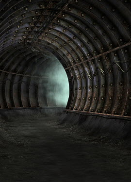 Victor Habbick EERIE EMPTY METAL TUNNEL Miscellaneous Buildings