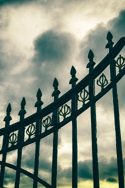 Clayton Bastiani VICTORIAN RAILINGS WITH STORMY SKY Gates