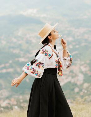Muna Nazak RETRO WOMAN IN COSTUME OUTDOORS Women