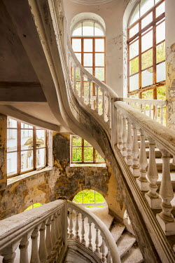 James Kerwin GRAND STAIRCASES OF ABANDONED BUILDING Stairs/Steps