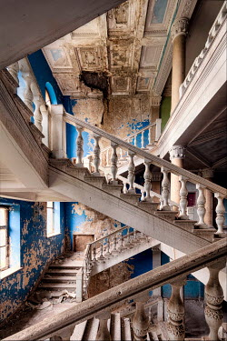 James Kerwin GRAND STAIRCASES IN DERELICT PALACE Stairs/Steps