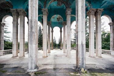 James Kerwin DERELICT PALACE WITH PILLARS Interiors/Rooms