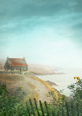 Sandra Cunningham SMALL HOUSE BY THE SEA Houses