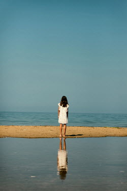 Krasimira Petrova Shishkova GIRL ON BEACH WATCHING SEA Children