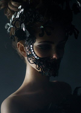 Kirill Sakryukin YOUNG WOMAN WEARING DIAMOND MASK Women