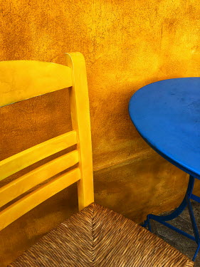 Trevor Payne YELLOW CHAIR WITH BLUE TABLE Miscellaneous Objects