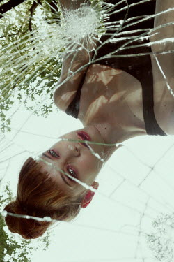 Marta Bevacqua WOMAN REFLECTED IN BROKEN MIRROR Women