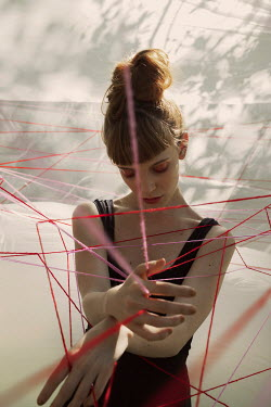 Marta Bevacqua WOMAN TRAPPED IN WEB OF STRING Women