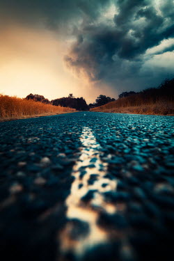 David Keochkerian COUNTRY ROAD THROUGH CROP FIELDS Paths/Tracks