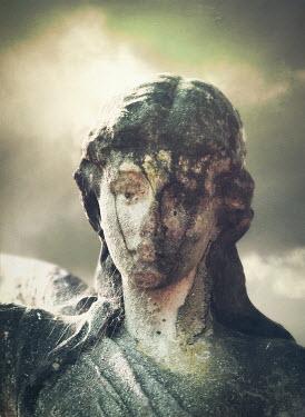 Mark Owen WEATHERED STONE STATUE OF ANGEL Statuary/Gravestones