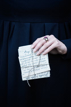 Magdalena Russocka HISTORICAL WOMAN HOLDING LETTERS Women